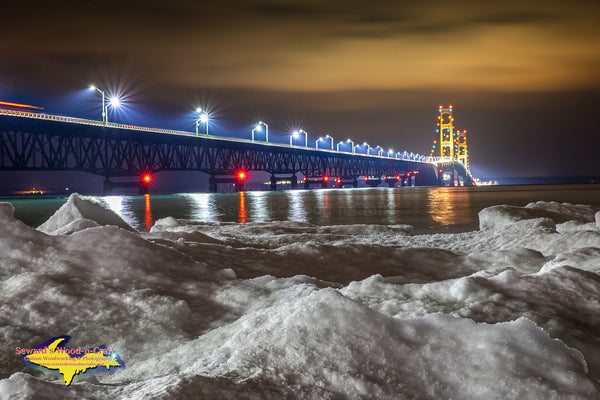 Michigan Landscape Photography Mackinac Bridge Winter Ice Michigan photos