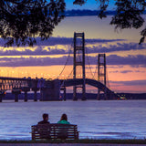 A Pure Michigan Moment Mackinac Bridge -8678 Coasters, Prints, Canvas