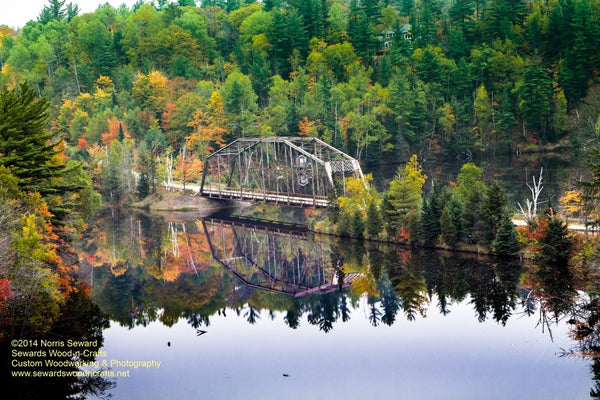 Michigan Landscape Photography Bridge 510 HWY Autumn Colors Marquette Photos For Sale