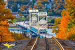 Autumn Colors Portage Lake Lift Bridge Houghton Hancock Keweenaw Peninsula Photos
