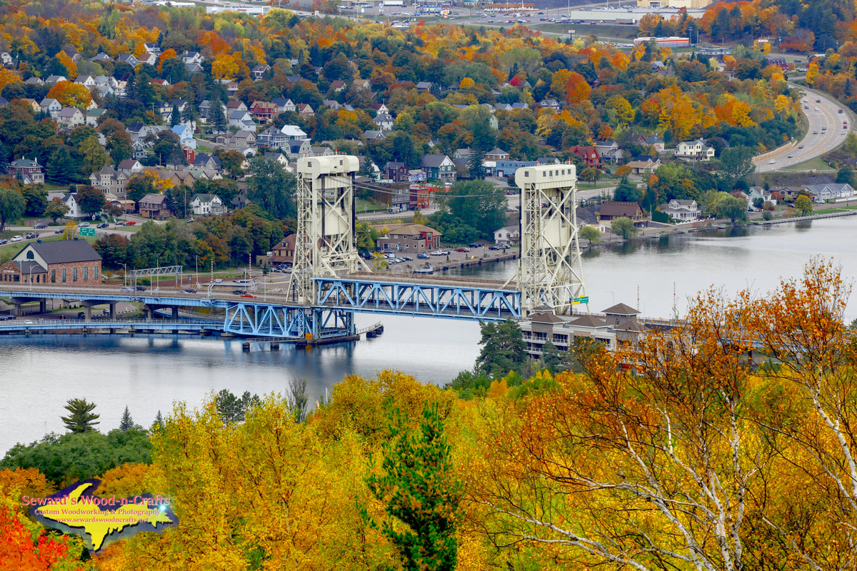 Michigan Photography Houghton Hancock Lift Bridge Autumn