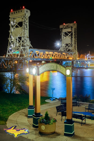 Michigan Photography Portage Lake Lift Bridge at Bridgeview Park Houghton