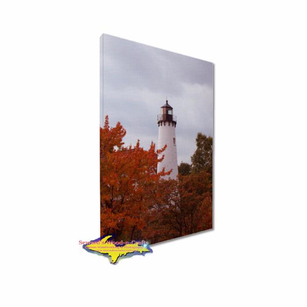 Yooper Gifts Small Canvas Print Point Iroquois Lighthouse Featuring beautiful  photography of stunning Michigan landmarks.