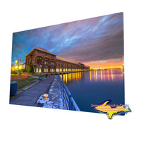 Cloverland Electric Hydro Plant on a fine art canvas print