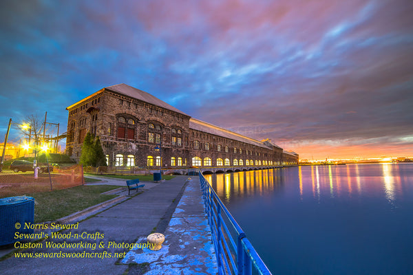Sunset over Cloverland Electric Hydro Plant Sault Ste. Marie, Michigan