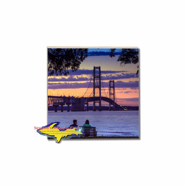 Coasters & More ~ A Pure Michigan Moment Mackinac Bridge -8678