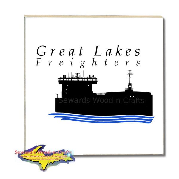 Great Lakes Freighters Drink Coasters & Trivets Tile coasters are Perfect gifts for boat nerds and freighter fans!