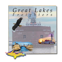 Great Lakes Freighters Drink Coasters & Trivets James R. Barker Tiles Perfect gifts for boat nerds
