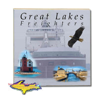 Great Lakes Freighters Drink Coasters & Trivets Joseph Block Tiles Perfect gifts for boat nerds and freighter fans