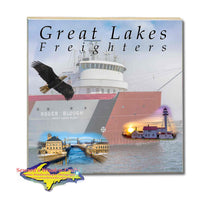 Great Lakes Freighters Drink Coasters & Trivets Roger Blough Photo Tiles Perfect gifts for boat nerds and freighter fans
