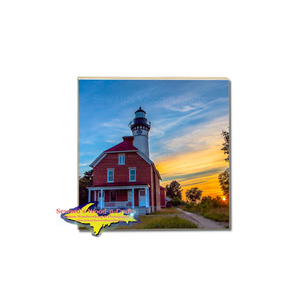Coasters Michigan's Upper Peninsula Au Sable Lighthouse