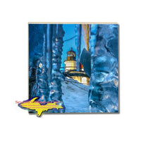 Michigan Drink Coaster Point Betsie Lighthouse Home Decor and Gifts