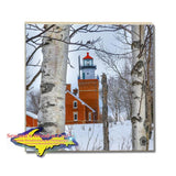 Michigan Made Drink Coasters, Trivets, & Slate Big Bay Point Lighthouse Photo Tiles & Gifts.