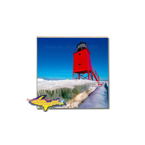 Artistic Coasters of Michigan Lighthouses for home interior