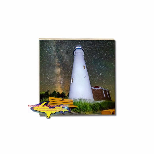 Crisp Point Lighthouse Single Coaster For Building Your Own Michigan Coaster Sets