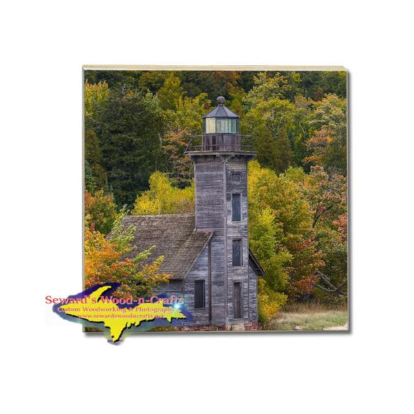 Michigan Drink Coasters Grand Island Lighthouse Pictured Rocks Photos, Gifts, & Collectibles