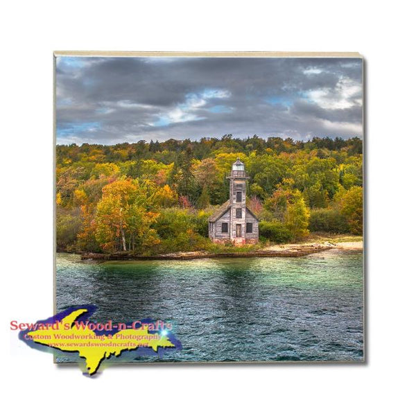 Michigan Made Drink Coasters Grand Island Lighthouse Pictured Rock Gifts, & Collectibles