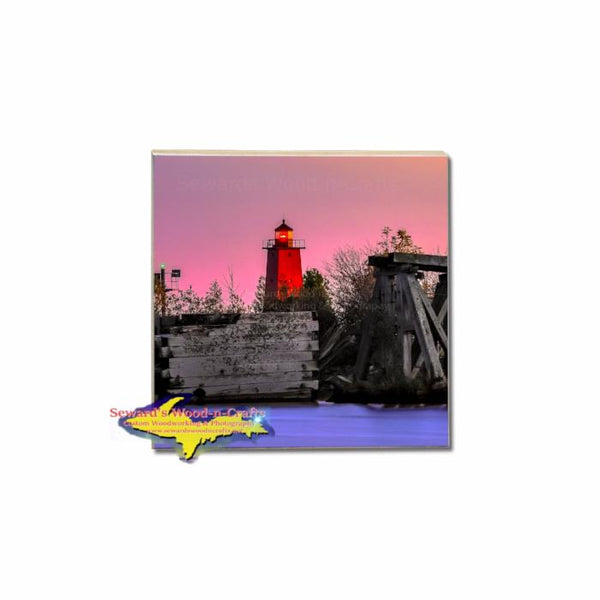 Manistique Lighthouse Coaster For Building Your Own Michigan Coaster Set