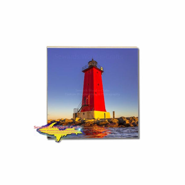 Michigan Coasters for that unique Michigan gift-Manistique Lighthouse