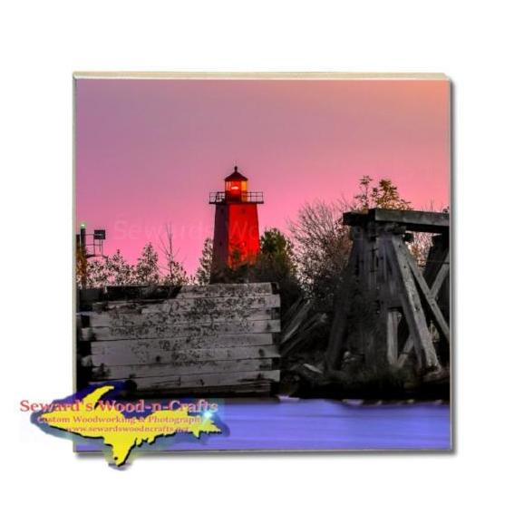 Michigan Made Drink Coaster Manistique Lighthouse Yooper Gifts And Collectibles