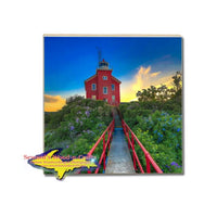 Drink Coasters Marquette Lighthouse Michigan's Upper Peninsula Gifts & Collectibles