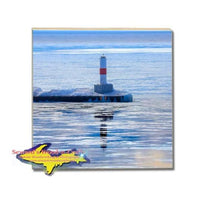 Michigan Made Drink Coasters Petoskey Pierhead Lighthouse Michigan Gifts