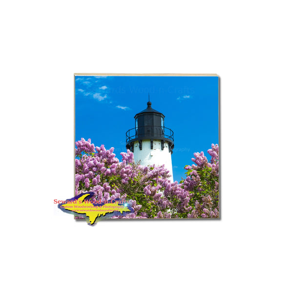 Michigan's Upper Peninsula Coasters Point Iroquois Lighthouse Photo Tiles