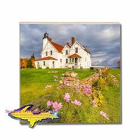 Point Iroquois Lighthouse Michigan's Upper Peninsula Coasters Make Great Gifts
