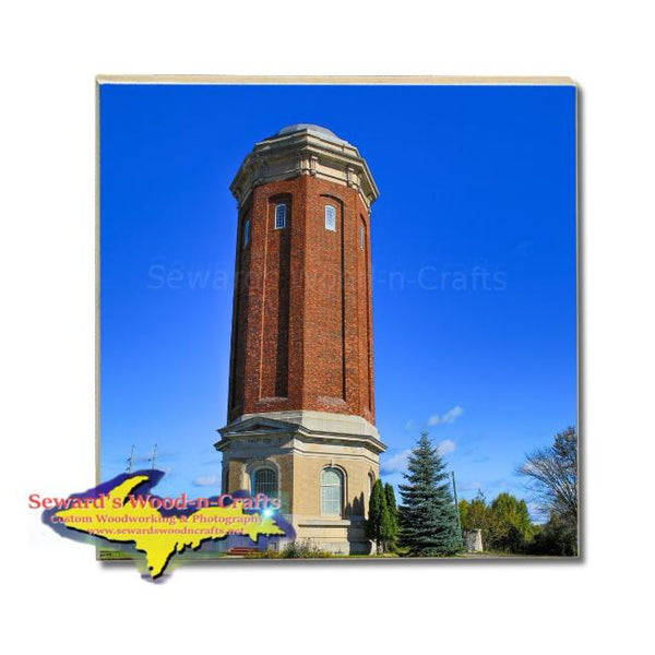 Michigan Made Drink Coasters Manistique Historical Water Tower Yooper Gifts & Collectibles