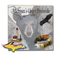 Michigan Made Drink Coasters & Trivets Michigan's Upper Peninsula Bear Cub