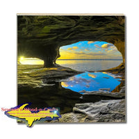 Michigan Drink Coasters Caves Of Paradise Point Munising Michigan Pictured Rocks Photos, Gifts, & Collectibles