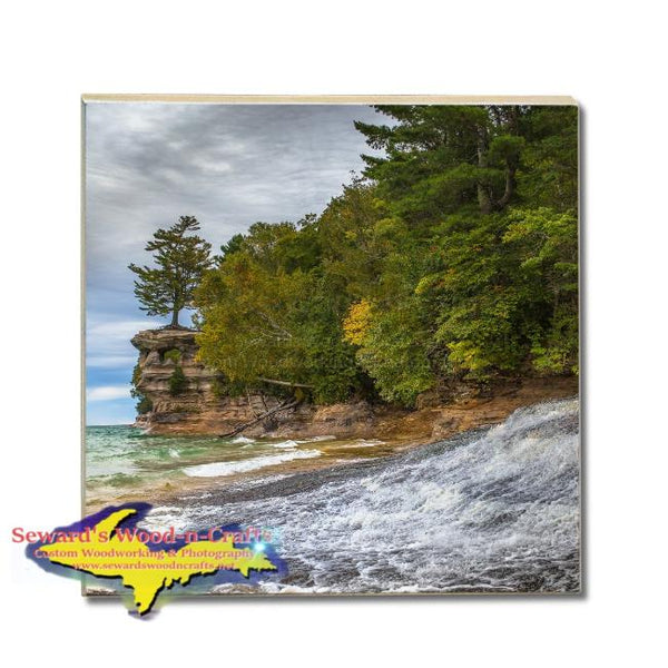 Drink Coasters Chapel Beach Pictured Rocks Michigan Made Gifts & Collectibles