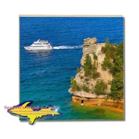Drink Coasters Pictured Rocks Cruises Photos Miners Castle Best Made In Michigan Gifts, & Collectibles