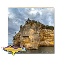Michigan Drink Coasters Pictured Rocks Indian Head Made In Michigan Gifts & Collectibles