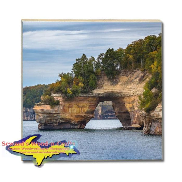 Michigan Drink Coasters Pictured Rocks Lovers Leap Made In Michigan Gifts & Collectibles