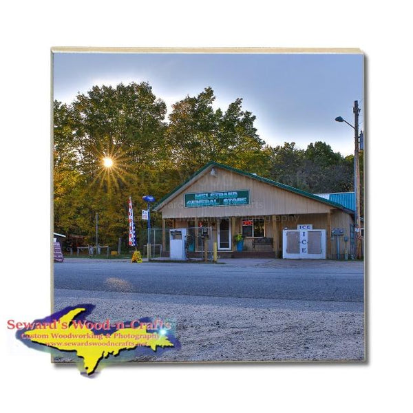 Drink Coasters Pictured Rocks Melstrand General Store Michigan Made Gifts & Collectibles