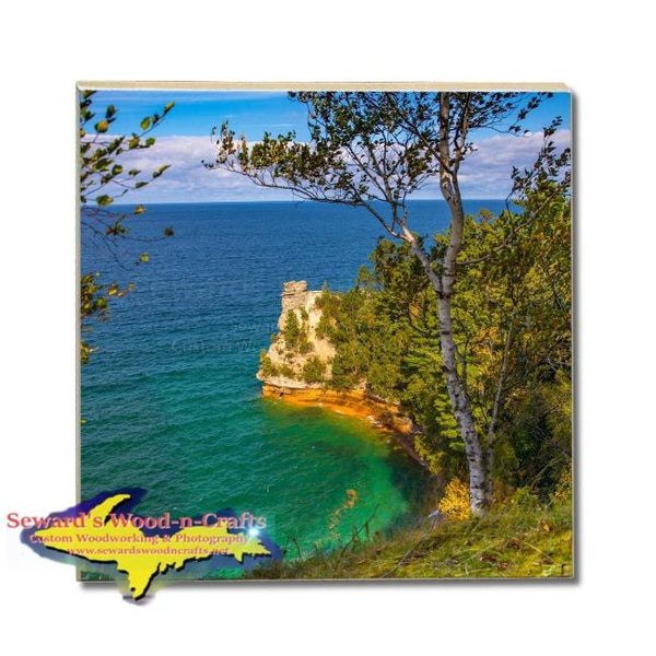 Michigan Made Drink Coasters Miners Castle Pictured Rocks  Gifts & Collectibles