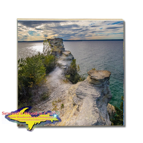 Drink Coasters Miners Castle Pictured Rocks Michigan Made Gifts & Collectibles