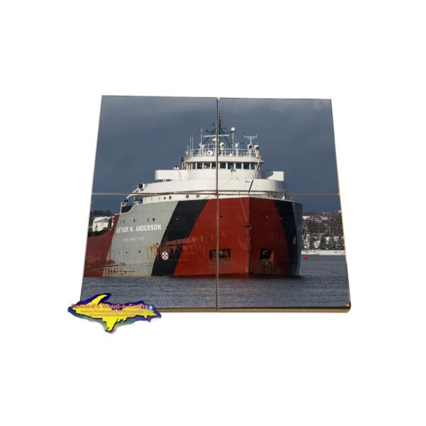 Arthur Anderson Coaster Puzzle Great Lakes Fleet Gifts & Collectibles For Boat Fans