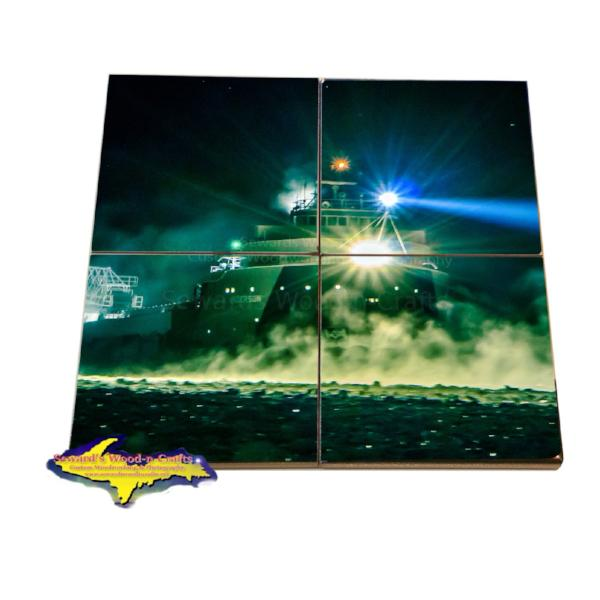 Freighter Arthur Anderson Coaster Puzzle Great Lakes Fleet Gifts & Collectibles For Boat Fans