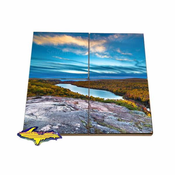 Coaster puzzles of Michigan's Upper Peninsula Lake Of The Clouds