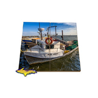 Coaster Puzzle with fishing boats for that unique gift