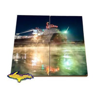 Lake Freighter Coaster Puzzle John Munson Coaster Sets For Boat Fans