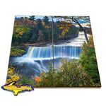 Upper Tahquamenon Falls Autumn Colors  Michigan Made Coaster Puzzles
