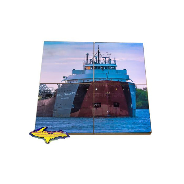 Cason J. Callaway Coaster Puzzle Great Lakes Fleet Freighter Marine Gifts & Collectibles