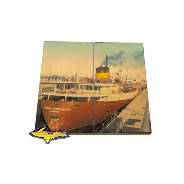Great Lake Freighter Coaster Puzzle Edmund Fitzgerald For Boat Fans