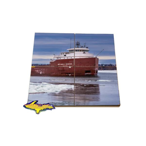 Lake Freighter Coaster Puzzle Hon James L Oberstar Great Lakes Marine Gifts & Collectibles