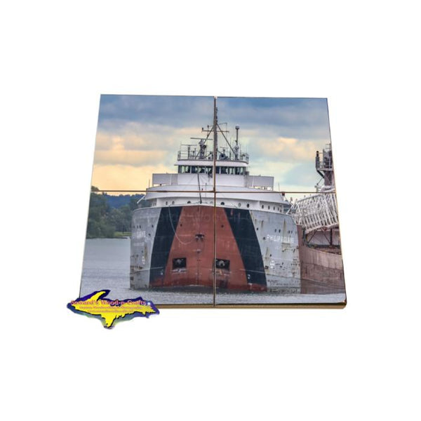 Great Lake Freighter Coaster Puzzle Philip Clarke Best Gifts For Boat Fans