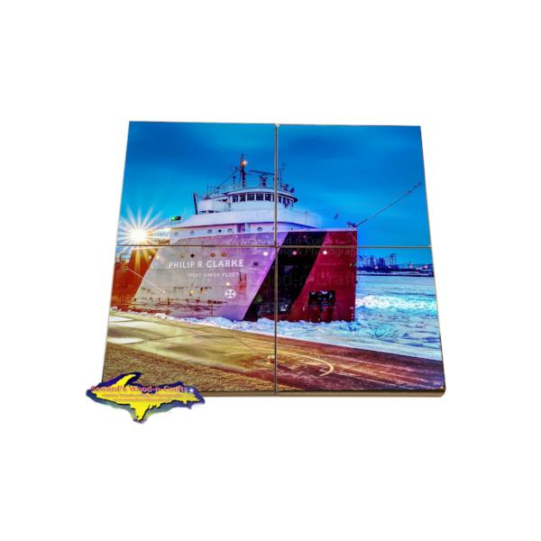 Great Lakes Fleet Freighter Coaster Puzzle Philip Clarke Great Lake Marine Gifts & Collectibles