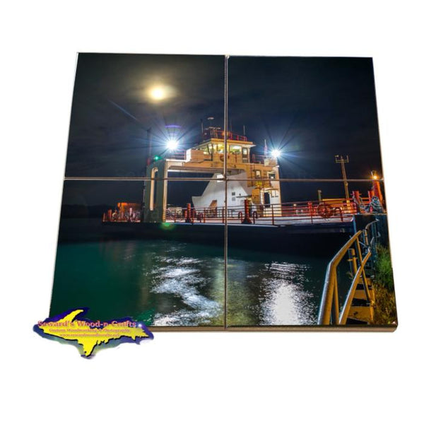 Great Lakes Coaster Puzzle Sugar Islander II. Sault Ste. Marie, Michigan. Sugar Island Gifts & Collectibles